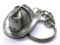 Fire Helmet Key Chain