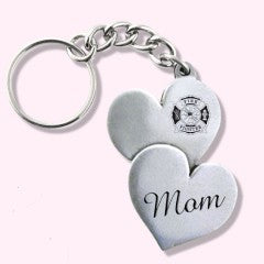 Firefighters Mom Key Chain