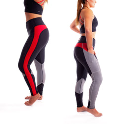 Womens Thin Red Line Performance Leggings