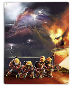 Guardians Metal Sign Firefighter Gifts
