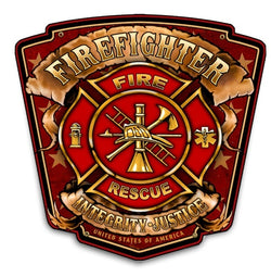 Firefighter Shield- Wood Photo Board