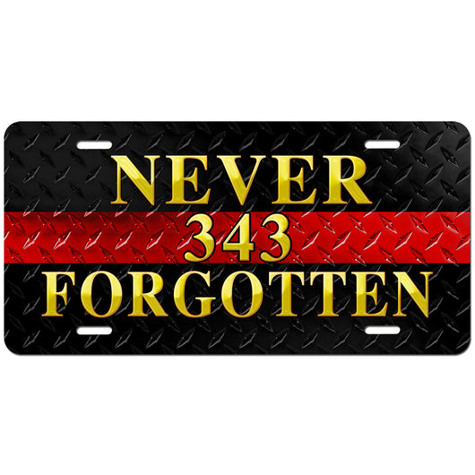 343 Never Forgotten License Plate