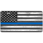 Thin Blue Line Distressed License Plate