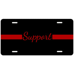 Thin Red Line Support License Plate