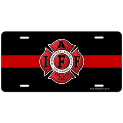 IAFF Thin Red Line Lic Plate