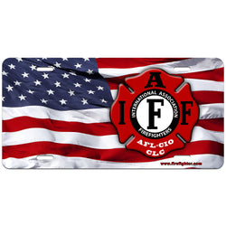 IAFF Flag License Plate