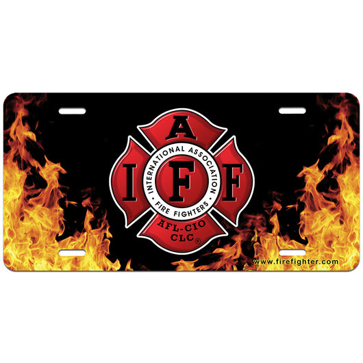 IAFF Flame License Plate