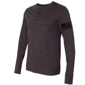 Thin Red Line Flag Long Sleeve Henley