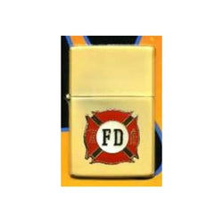 Red/Yellow Maltese Metal Lighter