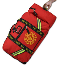 Red or Black Rolling Turnout Gear Bag