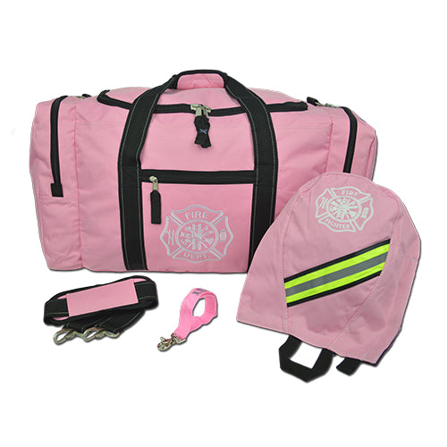 Pink Firefighter Gear Bag SCBA and Strap Package