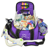 Large First Responder Bag With Deluxe Fill Kit - Purple