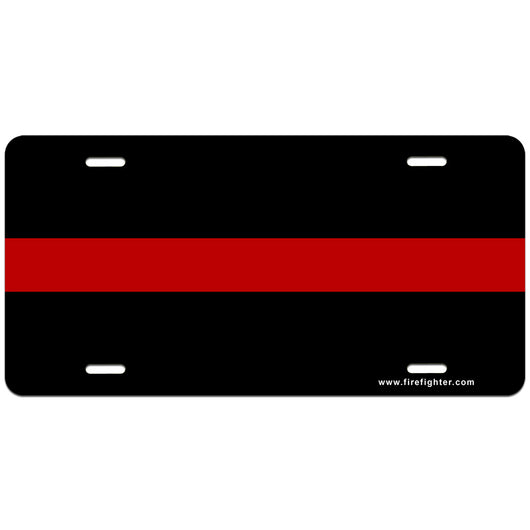 Thin Red Line License Plate | Firefighter.com