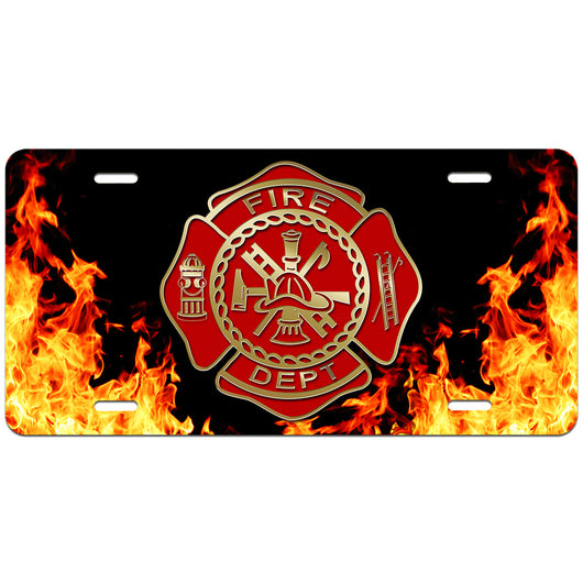 Volunteer FD License Plate