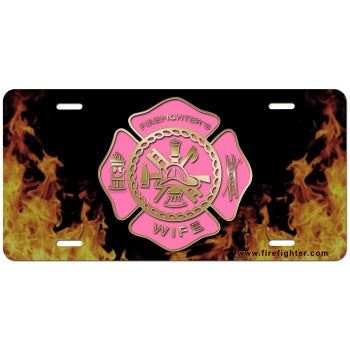 Firefighters Wife License Plate