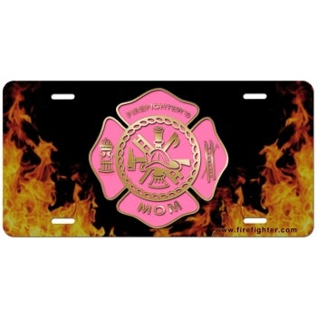 Firefighters Mom License Plate
