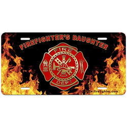 Firefighters Daughter License Plate