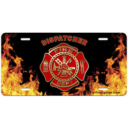 Fire Dispatcher License Plate