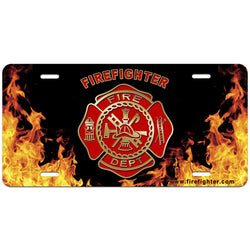 Firefighter License Plate