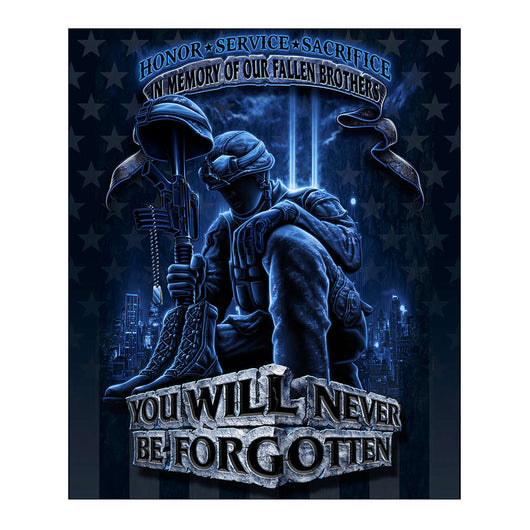 Military-Fallen Brothers Fleece Blanket
