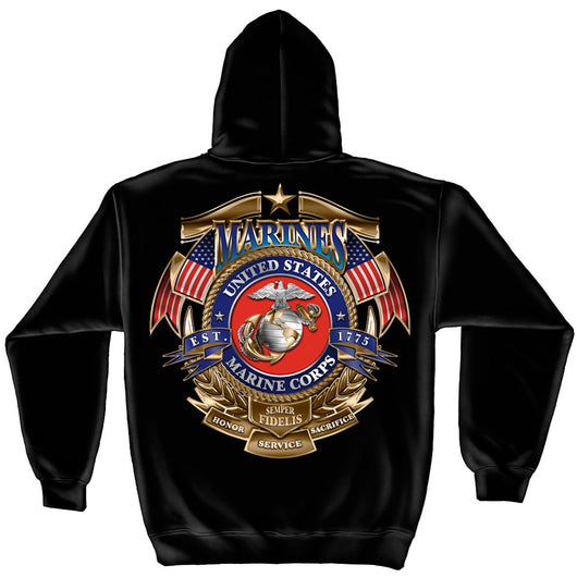 USMC Badge of Honor Hoddie