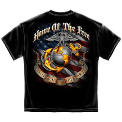 USMC Home of the Free Because of the Brave Shirt