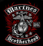 Long Sleeve USMC Black and Red Brotherhood Foil T-shirt