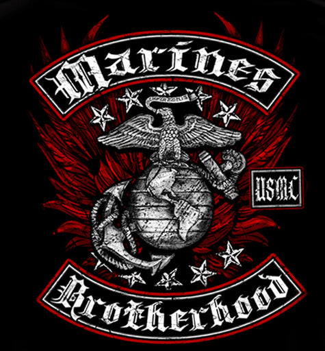 USMC Black and Red Brotherhood Foil Sweatshirt