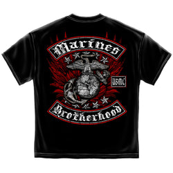 USMC Black and Red Brotherhood Foil T-shirt