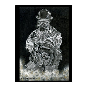 Black and White Firefighter Vent Print