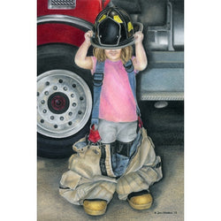 Firefighters Little Girl Print