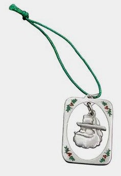 Pewter Santa Holiday Ornament