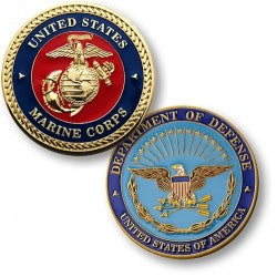 Marine Corps Seal Enamel Coin