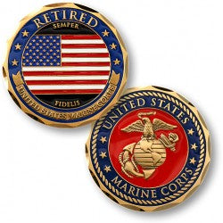 Marine Corps Retired Coin