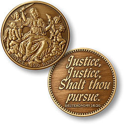 Raphael Justice Bronze Antique Coin