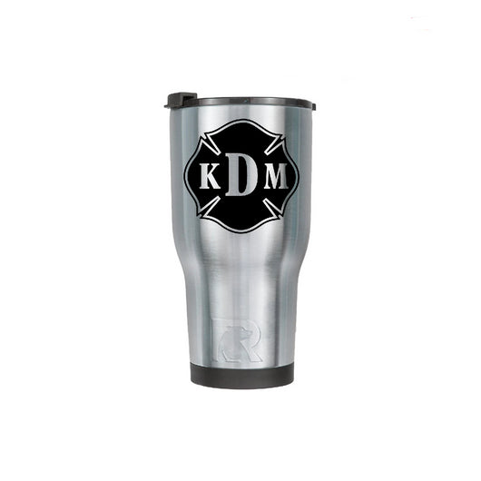 Silver RTIC 30oz Cup with Custom Black Maltese Decal