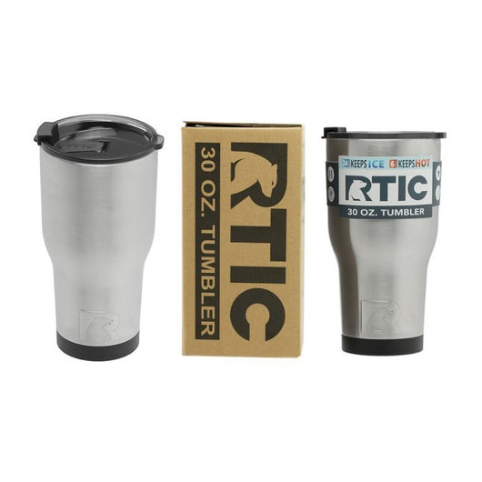 RTIC Tumbler with Distressed Thin Red Line Flag Decal
