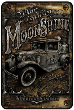 MOON SHINE TRUCK METAL PARKING SIGN