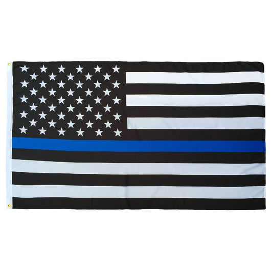 Thin Blue Line American Flag- Made in USA