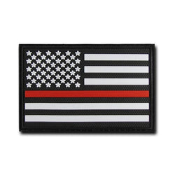 Thin Red Line Flag Rubber Patch