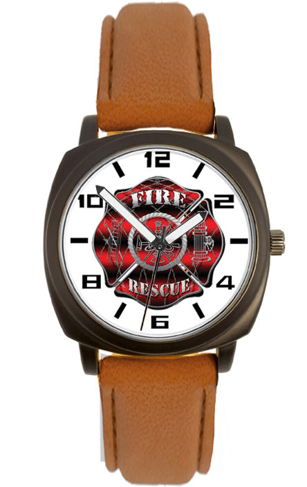 Fire Fighter Logo Watch-Barb Wire Maltese