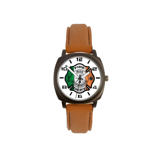 Brown Leather Band Irish Watch