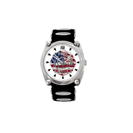 Fire Rescue Large Face Dive Watch