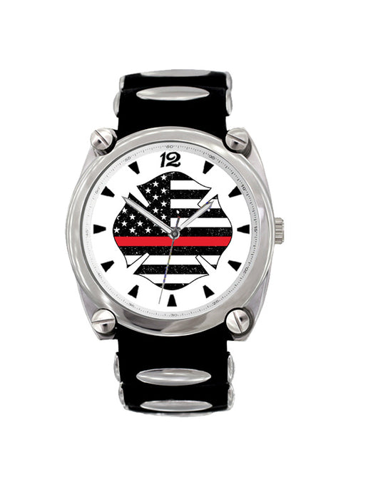 Thin Red Line Flag Large Face Dive Watch
