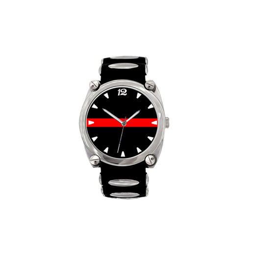 Thin Red Line Large Face Dive Watch