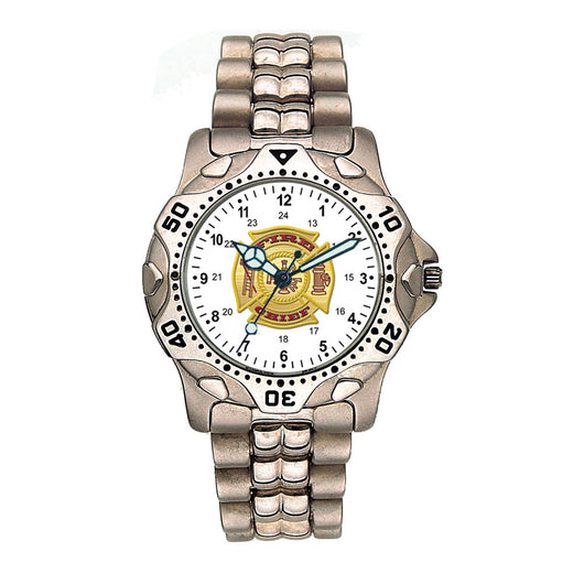Fire Chief Stainless Steel Silver Engravable Watch
