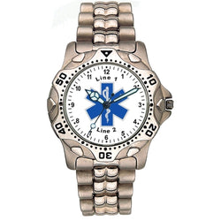 Star of Life Stainless Steel Watch