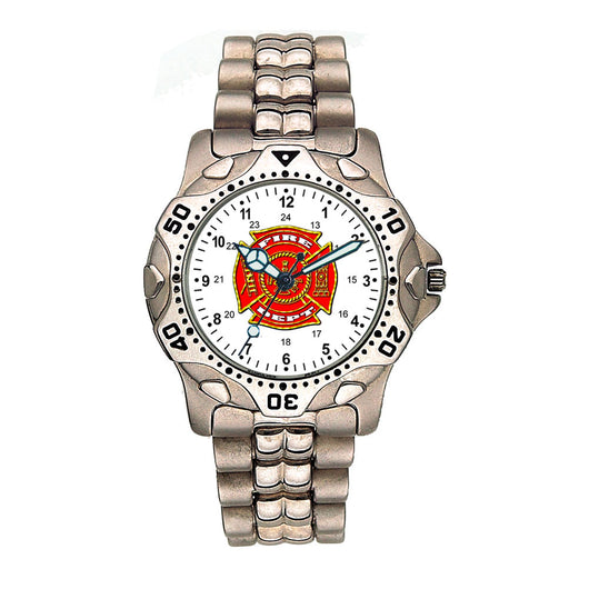 Fire Dept Stainless Steel Silver Engravable Watch