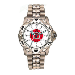 IAFF Stainless Steel Silver Engravable Watch