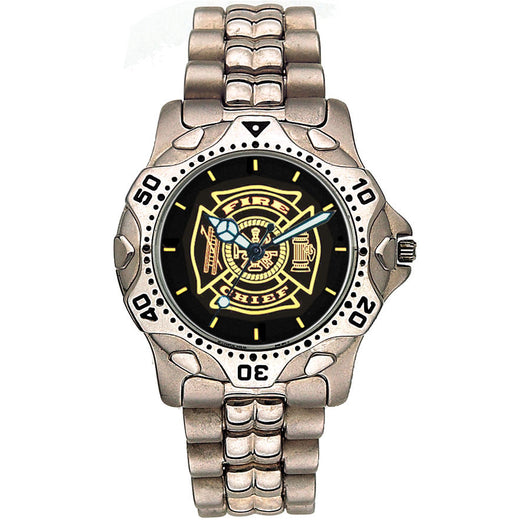 Stainless Steel Black Face Fire Chief Watch
